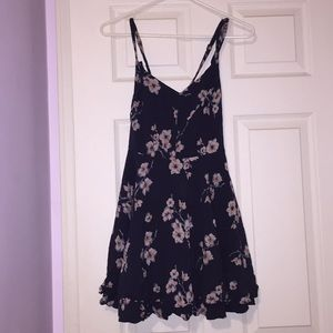 Urban outfitters Navy floral criss crossed dress